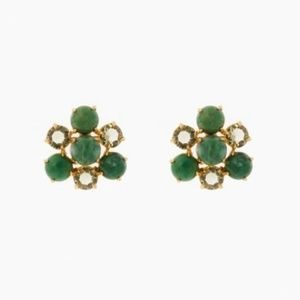 Tuckernuck Statement Stud Earrings - Green